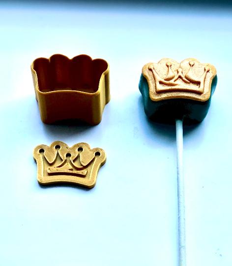 Cake Pop Stamp Purim Crown with Fondant Embosser 2pc set