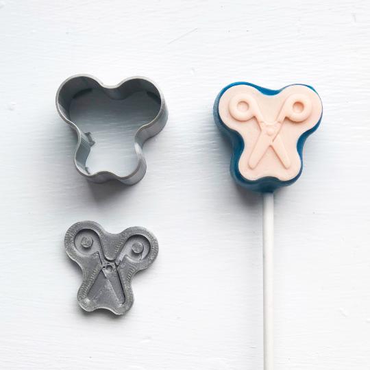 Cake Pop Stamp Upsherin Scissors with Fondant Embosser 2pc set
