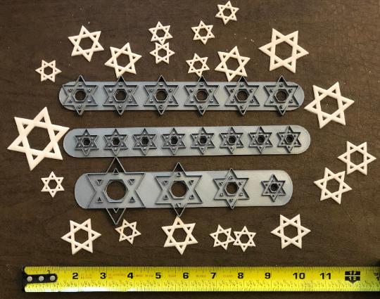 Jewish Star of David, Israel Flag, Strip Fondant Cutters