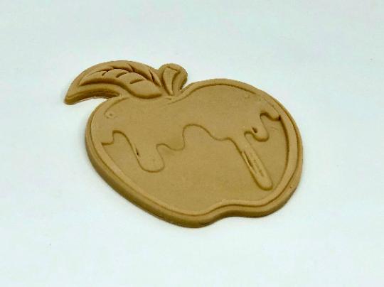 "Apple with Honey, Rosh Hashanah, Cookie Cutter Fondant Embosser - 3"""