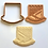"Thumbnail: Tzivos Hashem Chabad Lubavitch Logo Cookie Cutter 2pc SET 3""+4"""