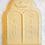 "Thumbnail: Jewish Torah Tablets w/Crown Luchot Hebrew Cookie Cutter 2pc SET 4.25"""