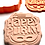 "Thumbnail: Happy Purim - Grogger & Mask - Cookie/Fondant Embosser Cutter 3.5"" high"