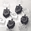 "Thumbnail: Mini Dreidel Chocolate Mold - 42 Cavities - 1"" each"