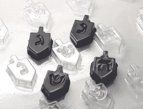 "Mini Dreidel Chocolate Mold - 42 Cavities - 1"" each"