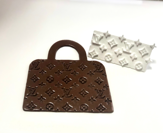 LV inspired Cookie/Fondant Continuous Pattern Stamp
