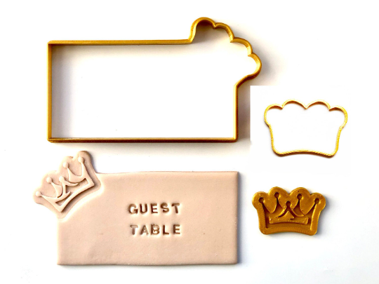 Place Card Cookies - Purim Crown with Fondant Embosser 3pc set