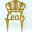 "Thumbnail: Crown Cake Topper Glitter Acrylic PERSONALIZED 5""W"