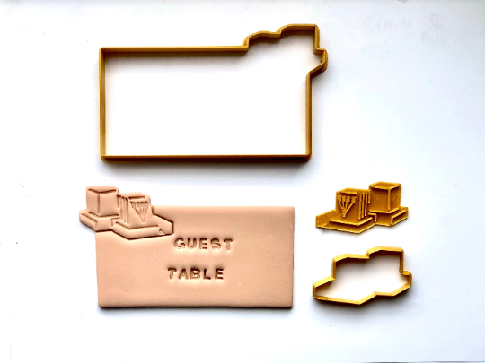 Place Card Cookies - Tefillin with Fondant Embosser 3pc set