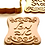 "Thumbnail: Hebrew MAZAL TOV (Congratulations) Fondant Cutters Embosser SET - 3.5"""