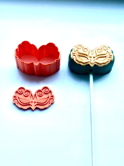 Cake Pop Stamp Purim Mask with Fondant Embosser 2pc set