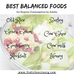 Best Balanced Foods