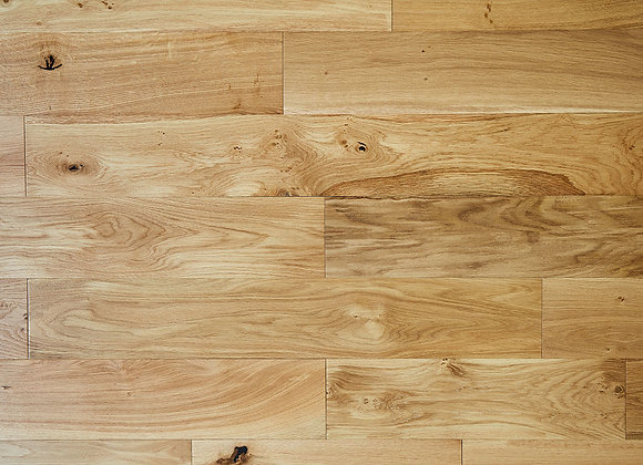 Classic Solid Rustic Oak Flooring 18mm X 150mm Brushed and Oiled 1.65m2
