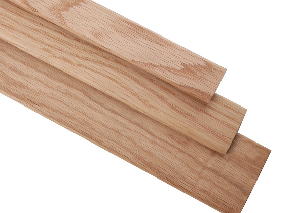 34mm Oak Gap Cover - Threshold Strip - Door Bar 88cm Long - Unfinished