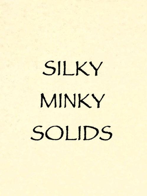 Silky Minky Solids