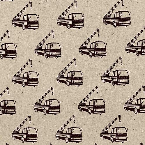 Echino Cotton/Linen Canvas - Crane Trucks