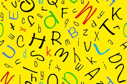 Alphabet Soup Alphabet Toss - Yellow