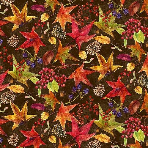 Harvest Whisper Multicolored Leaves - Dark