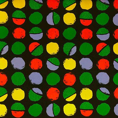 Hokkah Hedgehog Polka Dots Canvas - Black