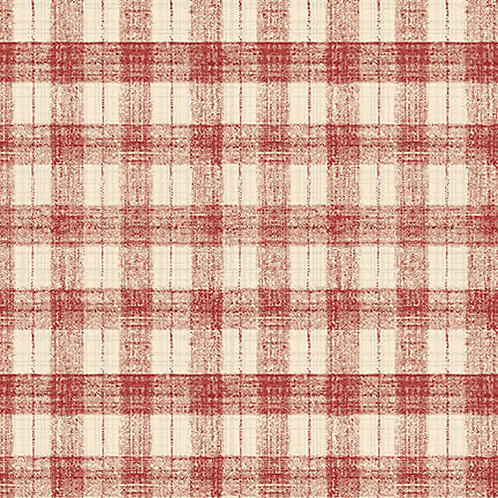 Blessings of Home Monotone Checks - Red