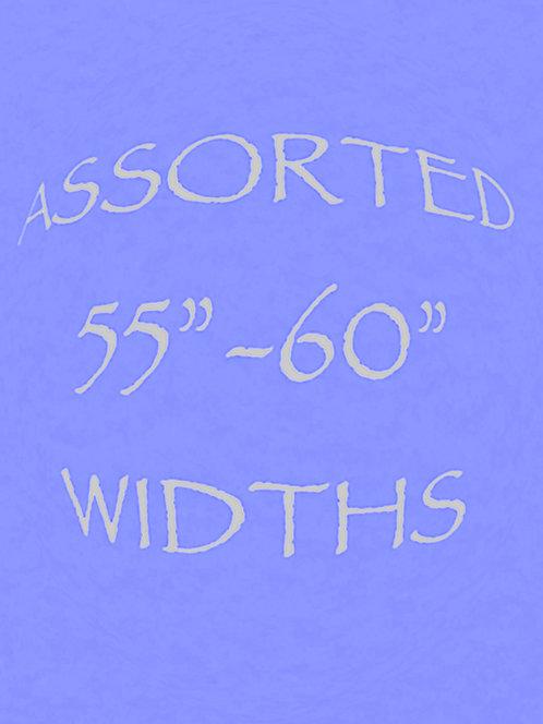 "Assorted 55"" - 60"" Widths"