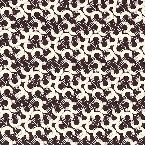 Hokkah Circular Cats Canvas - Black