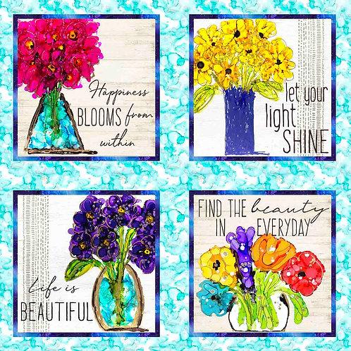 Lovitude - 4 Vase Panel