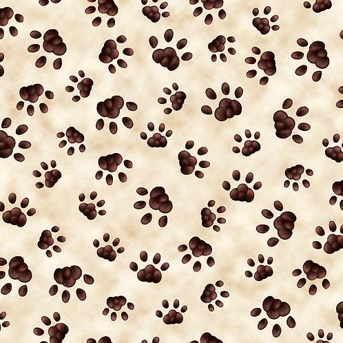 Literary Kitties Paw Print - Cream
