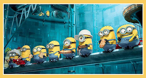 Minions In A  Row - Panel