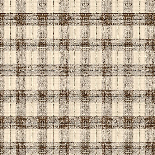 Blessings of Home Monotone Checks - Charcoal