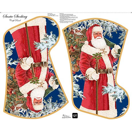 Santa Stocking - Panel