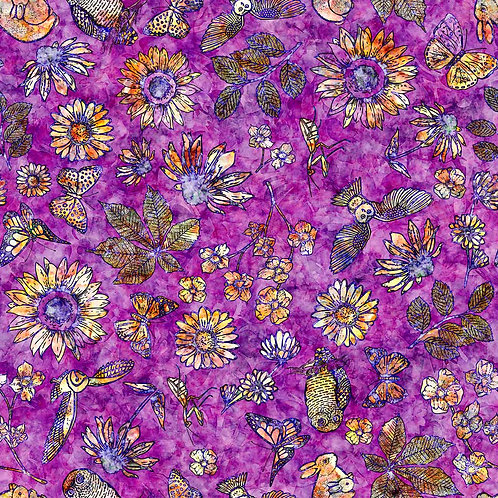 FLORA LUNA - Etched Floral - Purple