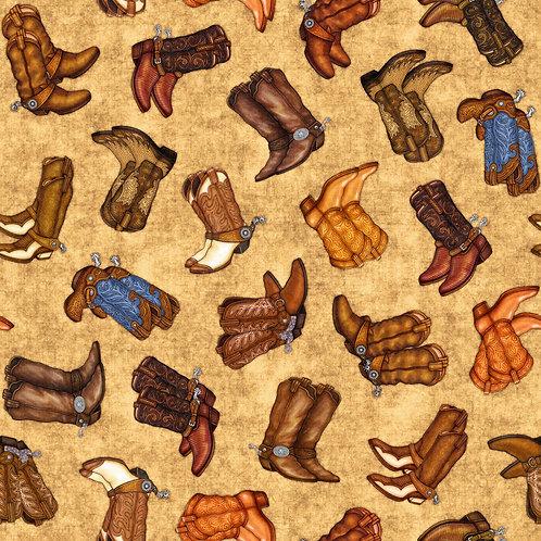 Cowboy Boots - Tan