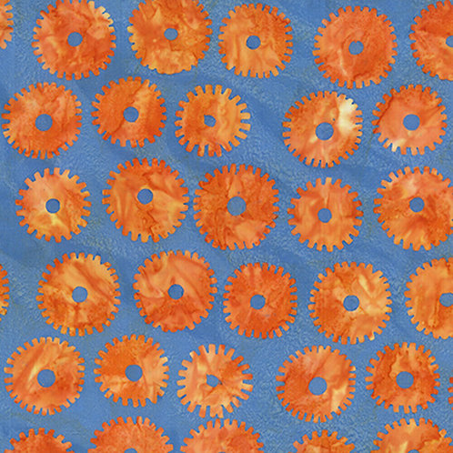 Artisan by Kaffe Fassett Saw Circles - Orange