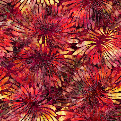 Tropicalia Large Floral - Brick