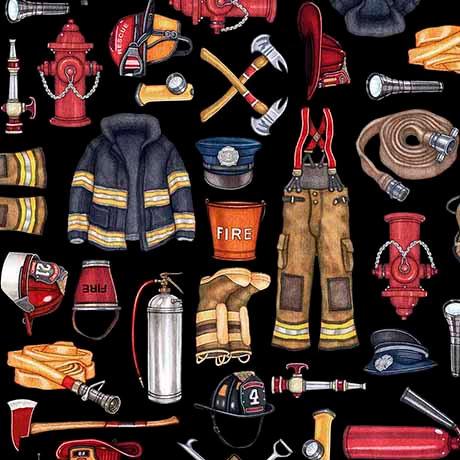 5 Alarm Firefighter Equipment - Black