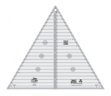 "Creative Grids 60 Degree Triangle 12"""