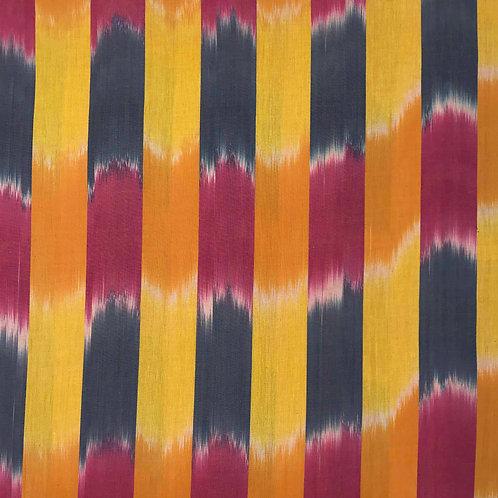 Yellow Ikat Stripe