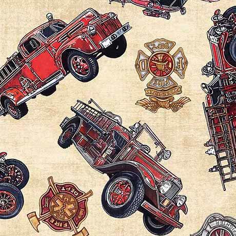 5 Alarm Firetrucks & Shields - Cream