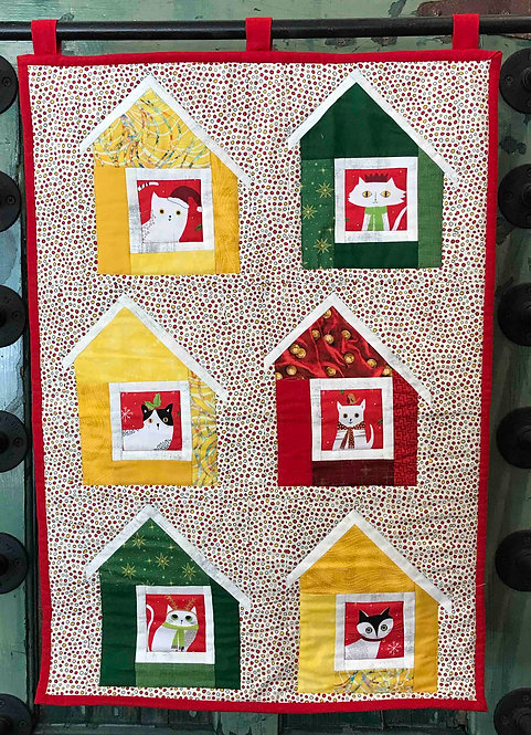 CATS IN HOUSES Wall Hanging