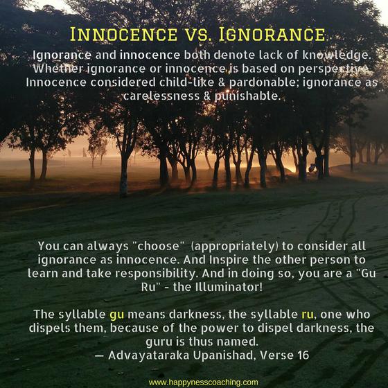 Innocence vs. Ignorance