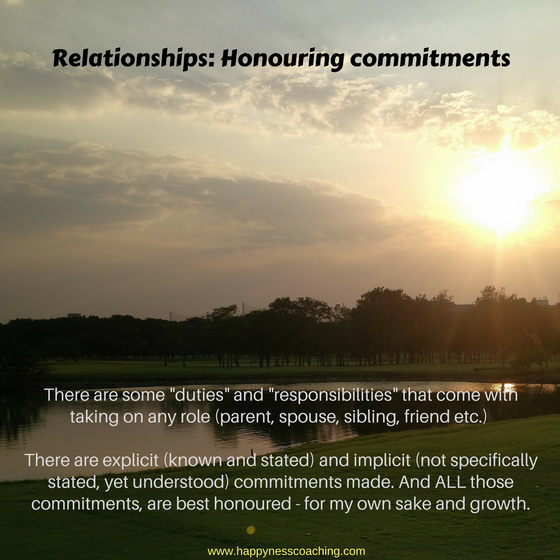 Relationships: Honouring commitments