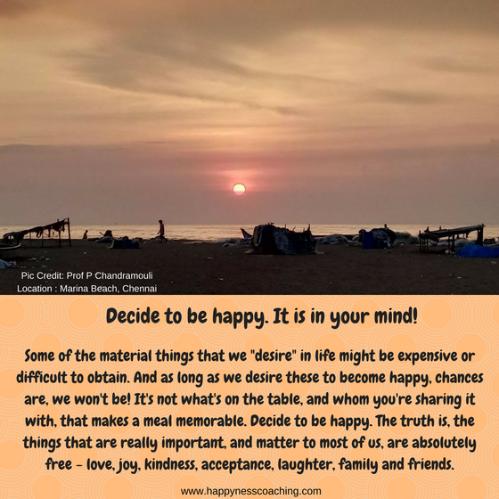 Happiness is within!