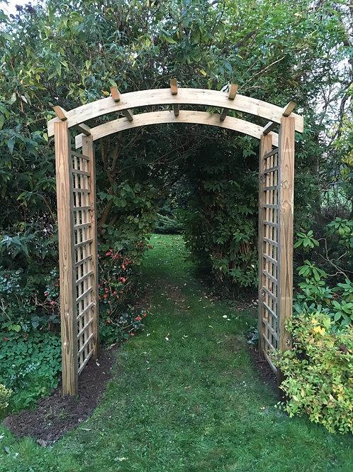 Curved Top Pergola Arch
