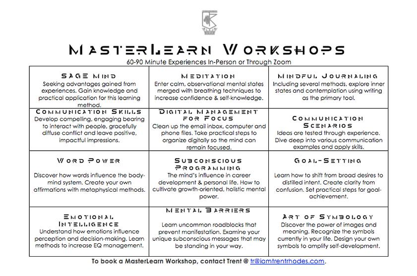 MasterLearn - Mind Performance Workshops