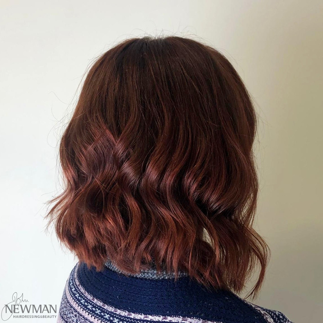 Glossy red waves