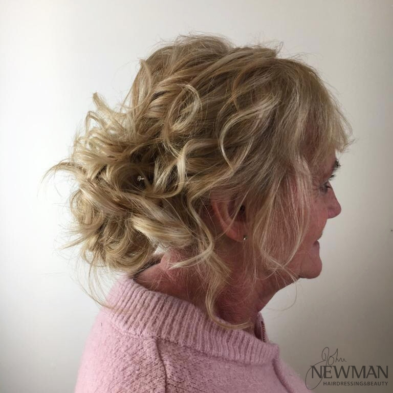 Effortless hair up with lots of curls