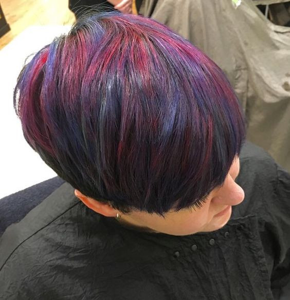 Blue, Purple & Pink Colorful hair