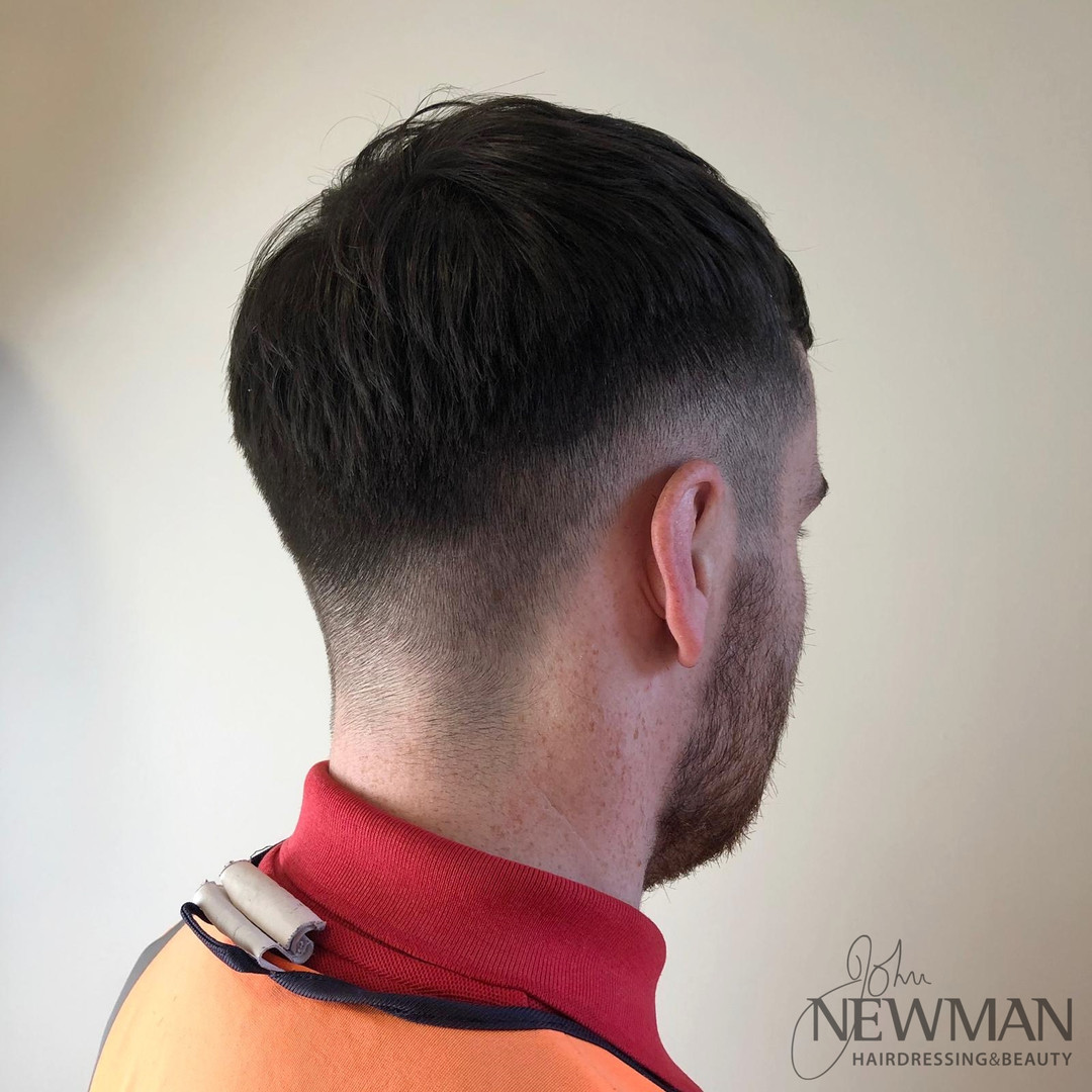 Short Faded Male Haircut