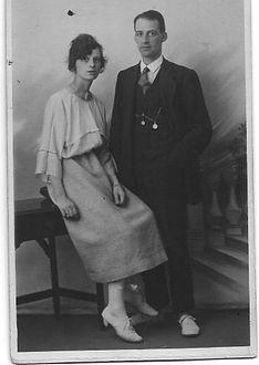 Hilda Newman and Ted Newman in 1925, Rothwell